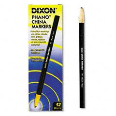 Dixon - china marker, black, dozen, sold as 1 dz