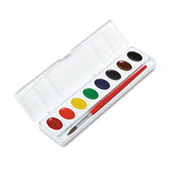 Prang - professional watercolors, 8 assorted colors,oval pans, sold as 1 ea