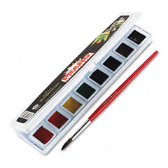 Prang - professional watercolors, 8 assorted colors,half pans, sold as 1 ea