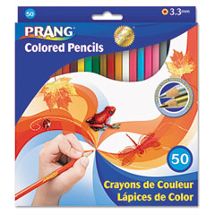 Prang - colored woodcase pencils, 3.3 mm, 50 assorted colors/set, sold as 1 st