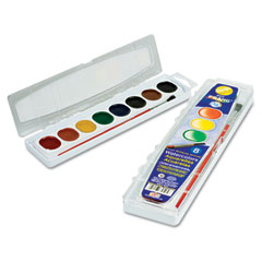 Prang - washable watercolors, 8 assorted colors, sold as 1 ea