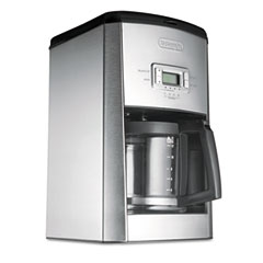 Delonghi DC514T Dc514T 14-Cup Drip Coffee Maker, Stainless Steel, Black/Silver