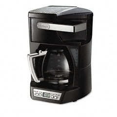 Delonghi DCF212T Programmable 12-Cup Coffee Maker, Stainless Steel, Black