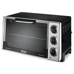 Delonghi RO2058 Convection Oven W/Rotisserie, 12.5-Liter, 0.5 Cu. Ft., Black