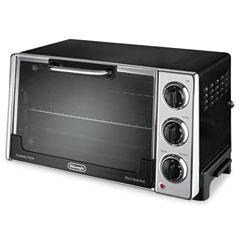 Delonghi RO2058 Convection Oven W/Rotisserie, 12.5-Liter, 0.5 Cu. Ft., Black