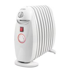 Delonghi - oil-filled radiator, white, 18.1 x 6.7 x 15, sold as 1 ea