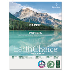 Domtar 2700 Earthchoice Office Paper, 92 Brightness, 20Lb, 8-1/2 X 11, White, 5000/Carton