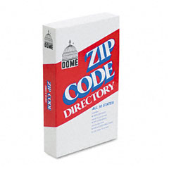 Dome - zip code directory, paperback, 750 pages, sold as 1 ea