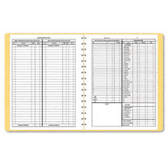 Dome - bookkeeping record, tan vinyl cover, 128 pages, 8 1/2 x 11 pages, sold as 1 ea