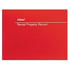 Ideal - rental property record book, 8-1/2 x 11, 60-page wirebound book, sold as 1 ea