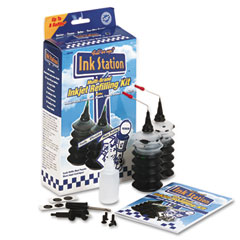 Dataproducts 60390 60390 Compatible Inkstation Multi-Brand Refilling Kit, Black