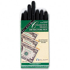 Dri-mark - smart money counterfeit bill detector pen for use w/u.s. currency, dozen, sold as 1 dz