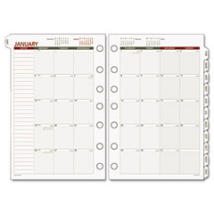Day runner - express recycled monthly planning pages, 5-1/2 x 8-1/2, sold as 1 ea