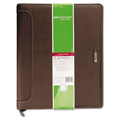 Day runner - express harrison refillable planner, 8-1/2 x 11, brown, sold as 1 ea