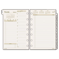 Day runner - pro recycled  two-page-per-day planning pages, 5-1/2 x 8-1/2,, sold as 1 ea