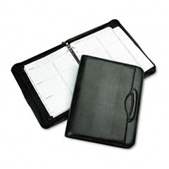 Day-timer - avalon leatherlike vinyl attache organizer starter set, 8-1/2 x 11, black, sold as 1 ea