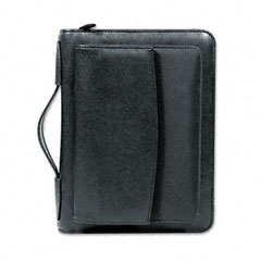 Day-timer - leatherlike vinyl & fabric briefcase organizer starter set, 5-1/2 x 8-1/2, black, sold as 1 ea