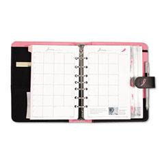 Day-timer - pink ribbon organizer starter set w/microfiber binder, 5-1/2 x 8-1/2, black/pink, sold as 1 ea