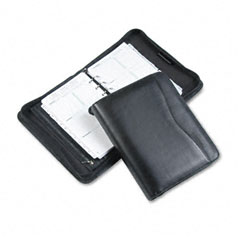 Day-timer - verona leather zippered organizer starter set, 5-1/2 x 8-1/2, black, sold as 1 ea