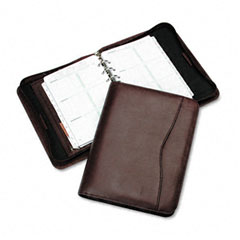 Day-timer - verona leather zippered organizer starter set, 5-1/2 x 8-1/2, burgundy, sold as 1 ea