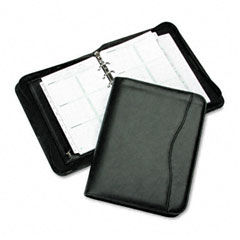 Day-timer - avalon leatherlike vinyl zippered organizer starter set, 5-1/2 x 8-1/2, black, sold as 1 ea