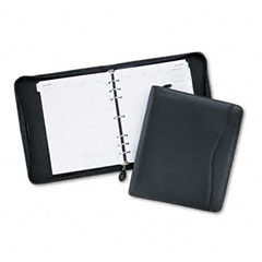 Day-timer - verona leather zippered organizer starter set, 8-1/2 x 11, black, sold as 1 ea