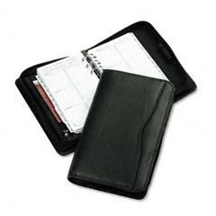 Day-timer - verona leather zippered organizer starter set, 3-3/4 x 6-3/4, black, sold as 1 ea