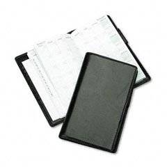 Day-timer - verona leather wirebound organizer starter set, 3-1/2 x 6-1/2, black, sold as 1 ea