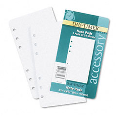 Day-timer - lined note pads for organizer, 3-3/4 x 6-3/4, 48 sheets/pack, sold as 1 pk