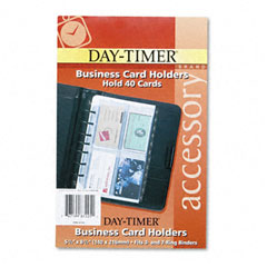 Day-timer - business card holders for looseleaf planners, 5 1/2 x 8 1/2, 5/pack, sold as 1 pk