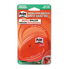 "PRI PRI10007800 Easy Stick Permanent Roll-On Adhesive in Refillable Dispenser, 1/3"" x 500"""