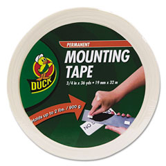 Duck - permanent foam mounting tape, 3/4-inch x 36yds., sold as 1 rl
