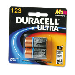 Duracell - ultra high power lithium battery, 123, 3v, 2/pack, sold as 1 pk