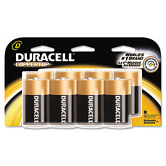 Duracell - coppertop alkaline batteries, d, 8/pack, sold as 1 pk