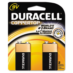 Duracell - coppertop alkaline batteries, 9v, 2/pack, sold as 1 pk