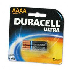 Duracell - ultra advanced alkaline batteries, aaaa, 2/pack, sold as 1 pk