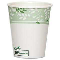 Dixie 2340PLA Ecosmart Hot Cups, Paper W/Pla Lining, Viridian, 10 Oz., 1000/Carton