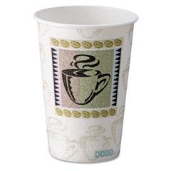 Dixie 5310DX Hot Cups, Paper, 10 Oz., Coffee Dreams Design, 500/Carton