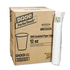 Dixie 5342CD Hot Cups, Paper, 12 Oz., Coffee Dreams Design, 1000/Carton