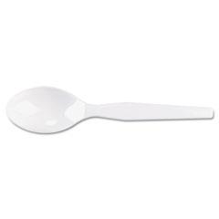 Dixie - plastic tableware, heavy mediumweight teaspoons, white, 100/box, sold as 1 bx