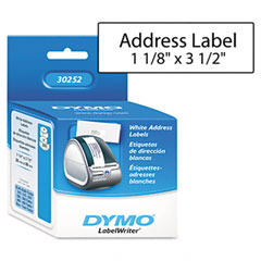 Dymo - address labels, 1-1/8 x 3-1/2, white, 700/box, sold as 1 bx
