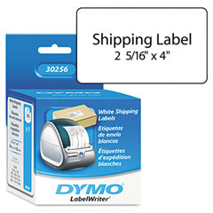 Dymo - shipping labels, 2-5/16 x 4, white, 300/box, sold as 1 bx