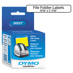 Dymo - 1-up file folder labels, 9/16 x 3-7/16, white, 260/box, sold as 1 bx