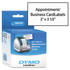Dymo 30374 Business/Appointment Cards, 2 X 3 1/2, White, 300/Box