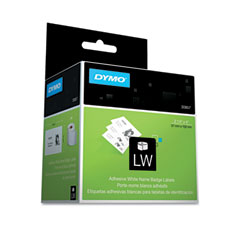 Dymo - self-adhesive name badge labels, 2-1/4 x 4, white, 250/box, sold as 1 bx