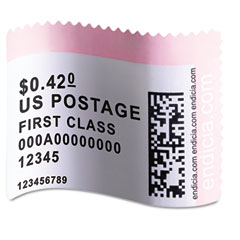 Dymo - labelwriter postage stamp labels, 1-5/8 x 1-1/4, white, 200/rl, sold as 1 rl
