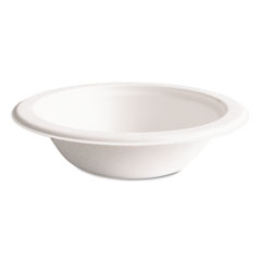 Eco-products - compostable sugarcane dinnerware, 12 oz. bowl, natural white, 50/pack, sold as 1 pk