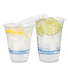 ECO EPCR16 Recycled Content Clear Plastic Cold Drink Cups, 16 Oz., Clear, 1000/Carton