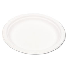Eco-products - compostable sugarcane dinnerware, 9-inch plate, natural white, 50/pack, sold as 1 pk