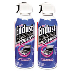 Endust - compressed air duster for electronics, 10oz, 2 per pack, sold as 1 pk